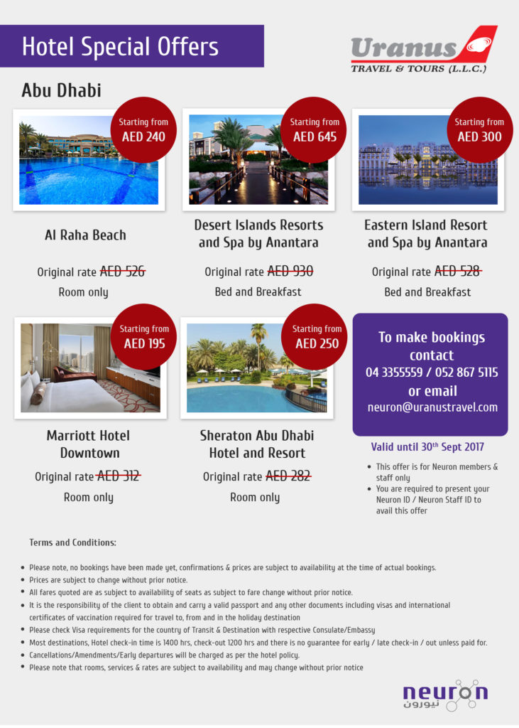 Hotel promotions from Uranus Travel & Tours (part 2)