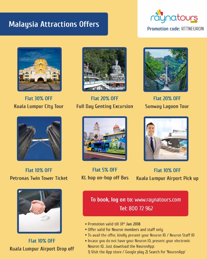 Malaysia attractions offers