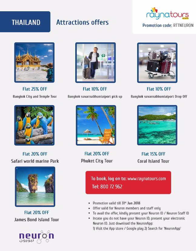 Thailand attraction offers