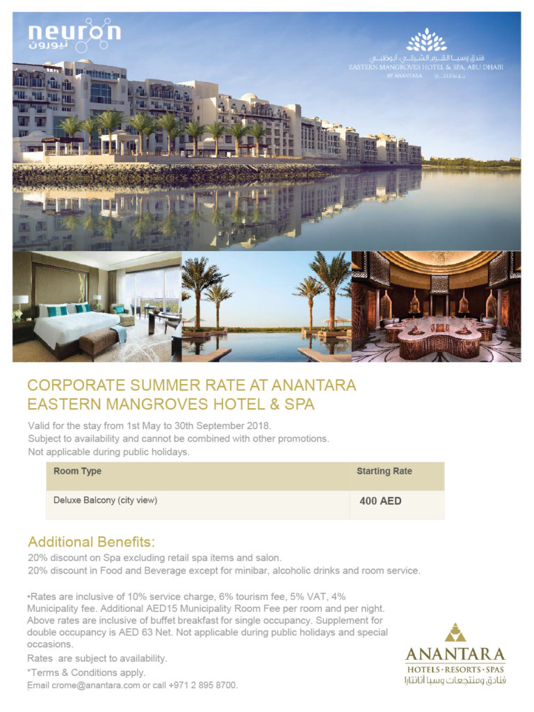 Anantara Eastern Mangroves Summer Corporate Rate